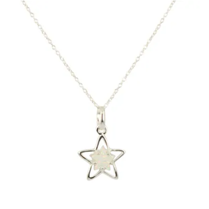 Opal Star White Necklace