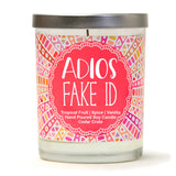 """21 Finally Legal"" Wine Glass and ""Adios Fake ID"" Tropical Fruit Temptations Candle Gift Set"