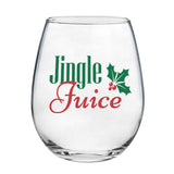 Jingle Juice | 15oz Stemless Wine Glass