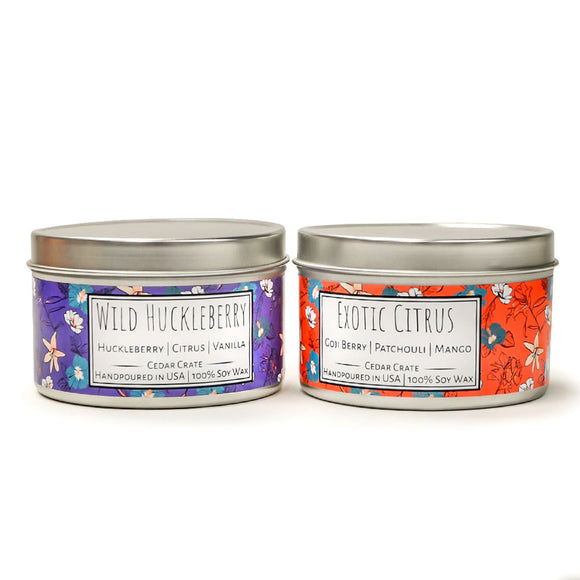 Wild Escapes | Exotic Citrus | Wild Huckleberry | 100% Soy Wax Candle