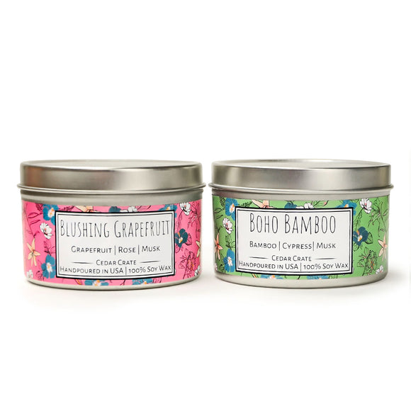 Wild Escapes | Boho Bamboo | Blushing Grapefruit | 100% Soy Wax Candle