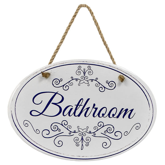 """Bathroom"" Blue & White 