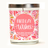 """Cheers to 60 Years!"" Wine Glass and ""Birthday Wishes"" Caribbean Retreat Candle Gift Set"