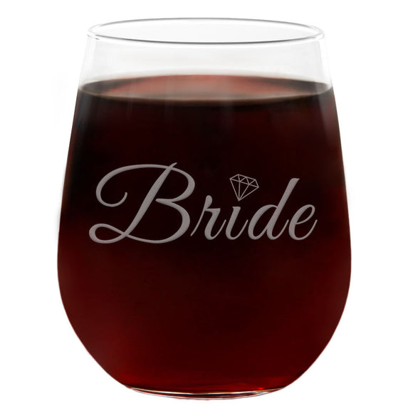 Bride | 21oz Engraved Stemless Wine Glass