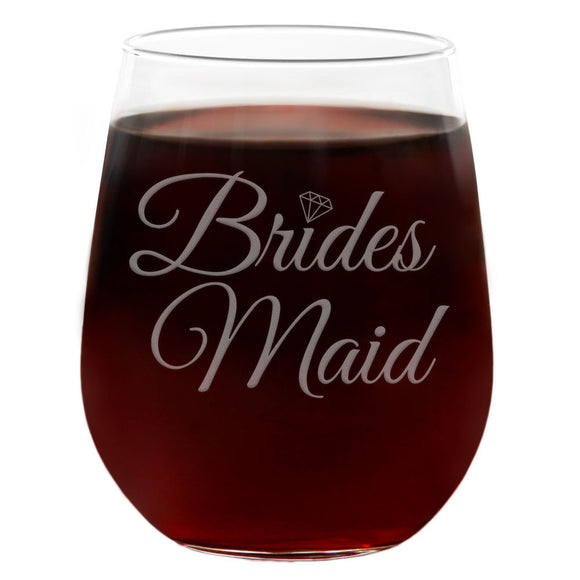 Bridesmaid | 21oz Engraved Stemless Wine Glass