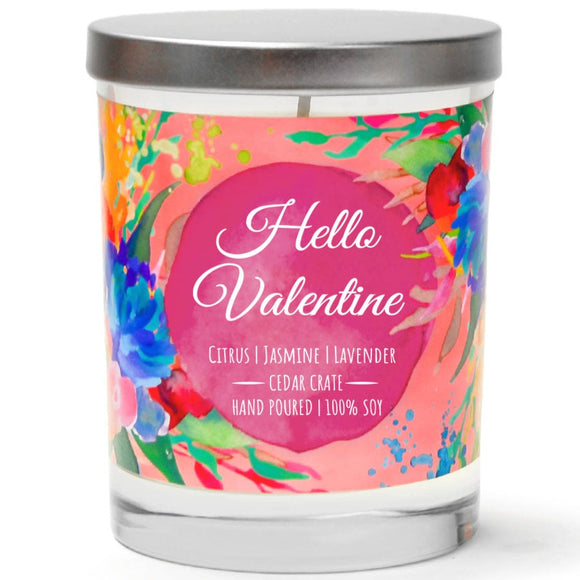 Hello Valentine | French Cade Lavender | 100% Soy Wax Candle