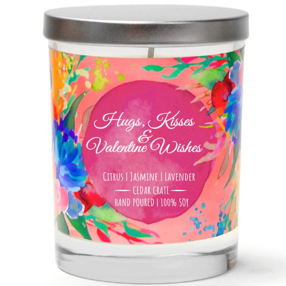 XOXO Hugs & Kisses | French Cade Lavender | 100% Soy Wax Candle