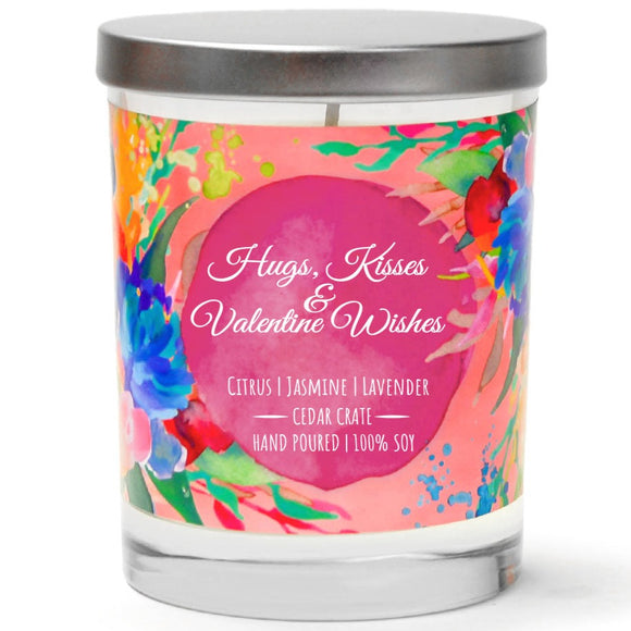 Hugs, Kisses & Valentine Wishes | French Cade Lavender | 100% Soy Wax Candle