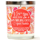 """I Love You More Than My Sibling Does - Your Favorite"" 