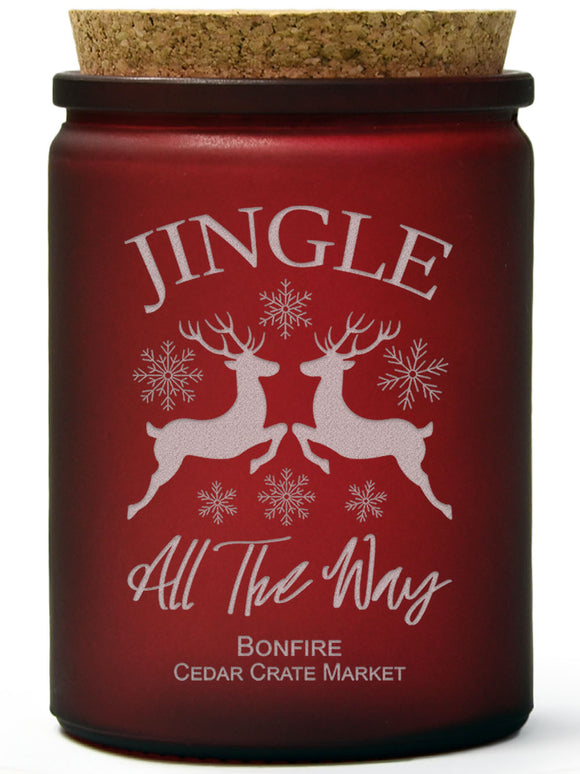Jingle All the Way | Bonfire | 100% Soy Wax Candle