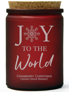 Joy to the World | Cranberry Christmas | 100% Soy Wax Candle