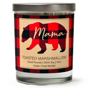 Mama Bear |  Toasted Marshmallow | 100% Soy Wax Candle