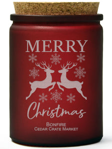 Merry Christmas | Bonfire | 100% Soy Wax Candle