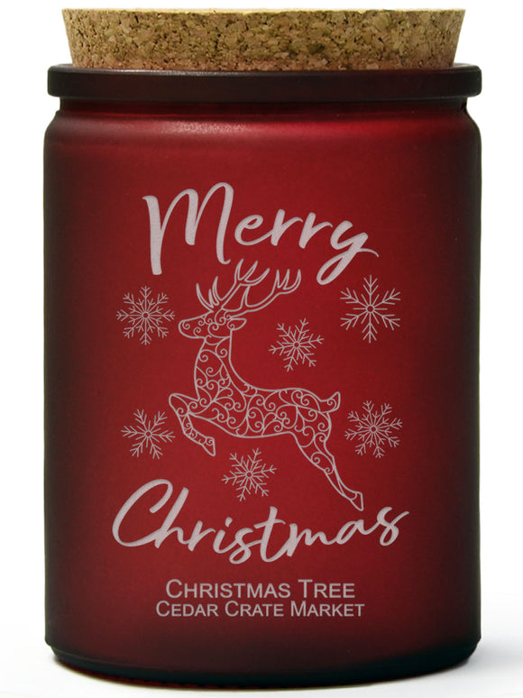 Merry Christmas | Christmas Tree | 100% Soy Wax Candle
