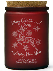 Merry Christmas and a Happy New Year | Christmas Tree | 100% Soy Wax Candle