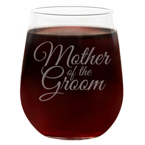 Mother of the Groom | 21oz Engraved Stemless Wine Glass