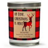 Oh Deer, Christmas is Here | Bonfire | 100% Soy Wax Candle