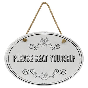 """Please Seat Yourself"" Black & White 