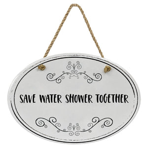 """Save Water Shower Together"" Black & White 