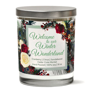 Welcome to our Winter Wonderland | Christmas Cranberry | 100% Soy Wax Candle