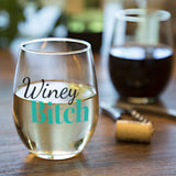 Winey Bitch | 15oz Stemless Wine Glass