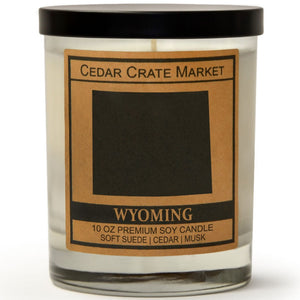 Wyoming | Vintage Leather | 100% Soy Wax Candle