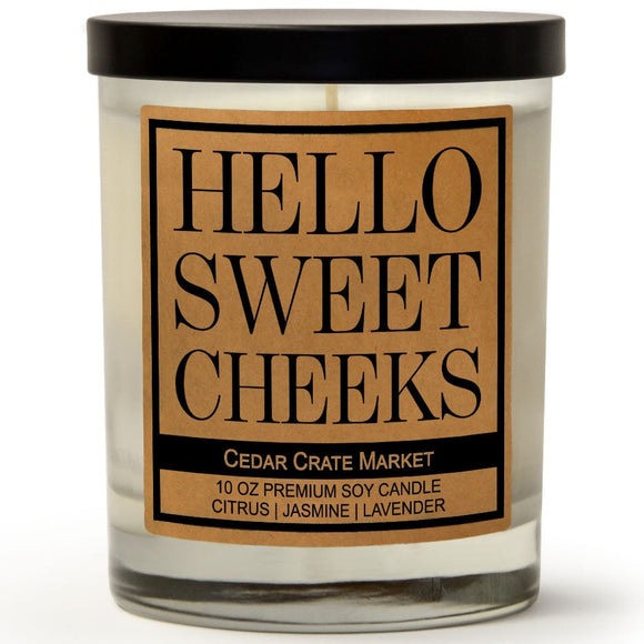 Hello Sweet Cheeks | French Lavender | 100% Soy Wax Candle