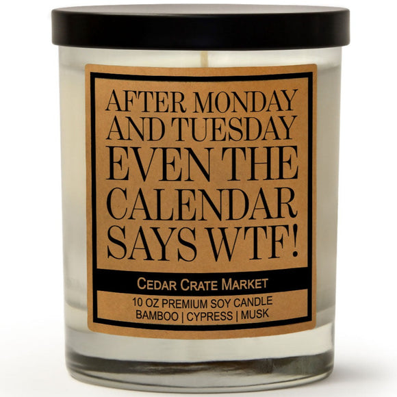 After Monday and Tuesday Even the Calendar Says WTF! | Bamboo Forest | 100% Soy Wax Candle
