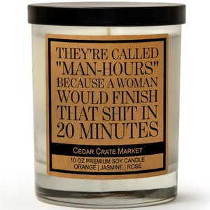 "They're Called ""Man-Hours"" Because a Woman Would Finish That Shit In 20 Minutes 