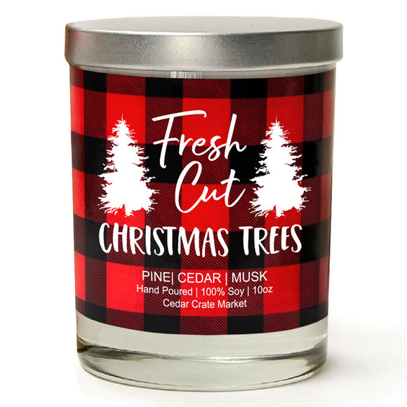 Fresh Cut Christmas Trees | Christmas Tree | 100% Soy Wax Candle