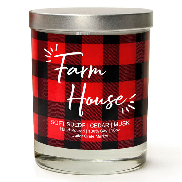 Farm House | Vintage Leather | 100% Soy Wax Candle