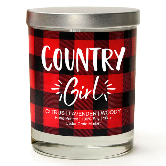 Country Girl | Jasmine Blossom | 100% Soy Wax Candle