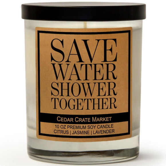 Save Water Shower Together | French Lavender | 100% Soy Wax Candle