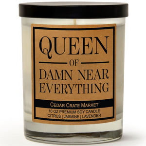Queen of Damn Near Everything | French Lavender | 100% Soy Wax Candle