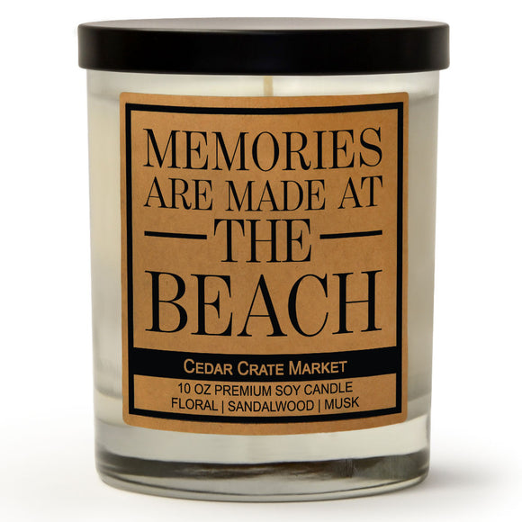 Memories Are Made At the Beach | Ocean Rose | 100% Soy Wax Candle