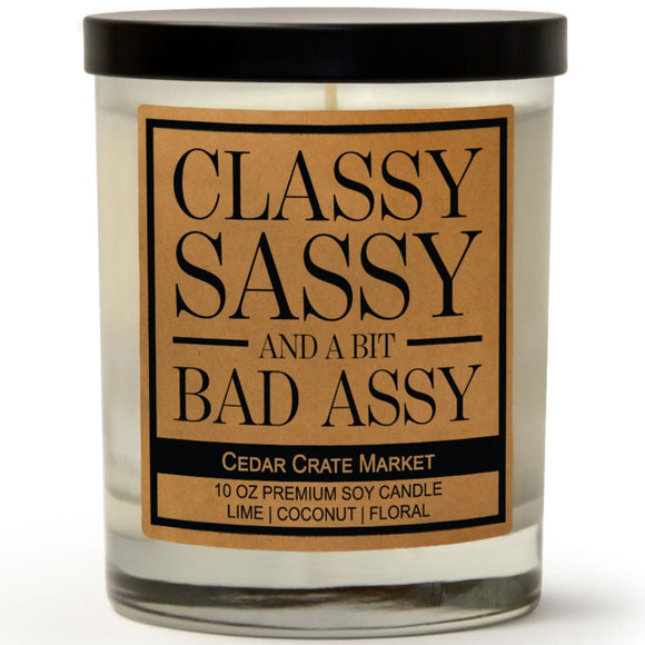 Classy Sassy And A Bit Bad Assy | Island Coconut Lime | 100% Soy Wax Candle