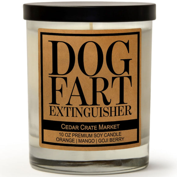 Dog Fart Extinguisher | Orange Zest | 100% Soy Wax Candle