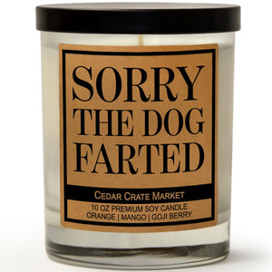 Sorry The Dog Farted | Orange Zest | 100% Soy Wax Candle