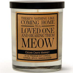 There's Nothing Like Coming Home To A Loved One And Hearing Them Meow | Caribbean Retreat | 100% Soy Wax Candle