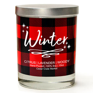 Winter | Lavender and Lemongrass | 100% Soy Wax Candle