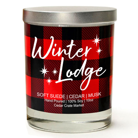 Winter Lodge | Vintage Leather | 100% Soy Wax Candle