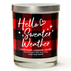 Hello Sweater Weather | French Lavender | 100% Soy Wax Candle