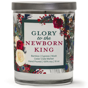 Glory to the Newborn King | Bamboo Forest | 100% Soy Wax Candle