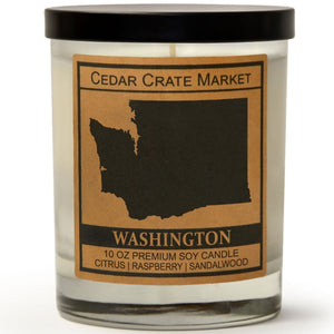 Washington | Raspberry Sangria | 100% Soy Wax Candle