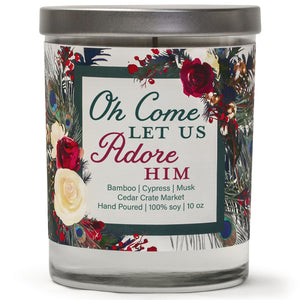Oh Come Let Us Adore Him | Bamboo Forest | 100% Soy Wax Candle