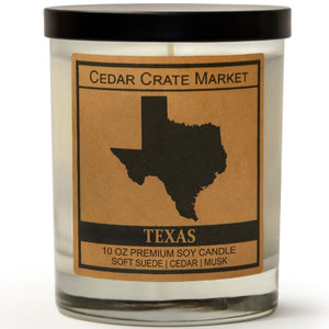 Texas | Vintage Leather | 100% Soy Wax Candle