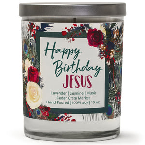 Happy Birthday Jesus | French Lavender | 100% Soy Wax Candle