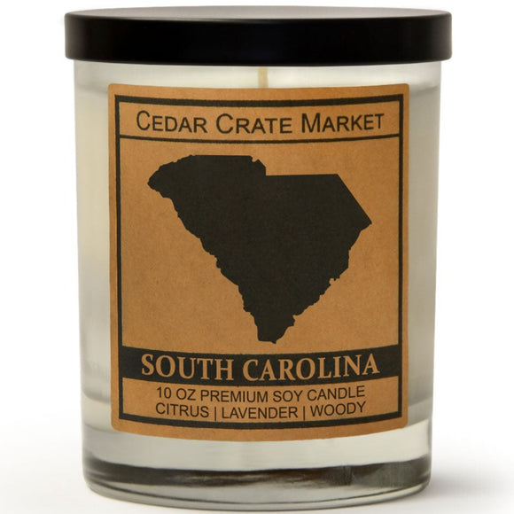 South Carolina | Lavender and Lemongrass | 100% Soy Wax Candle