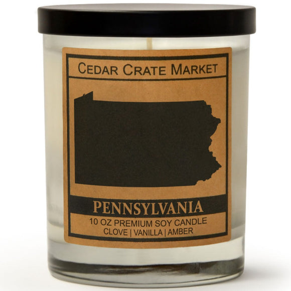 Pennsylvania | Toasted Marshmallow | 100% Soy Wax Candle