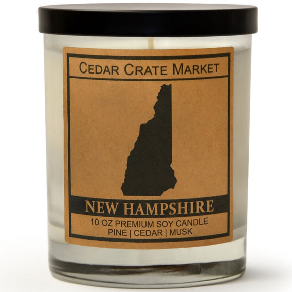 New Hampshire | Balsam and Cedar | 100% Soy Wax Candle